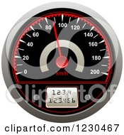 Clipart Of A Vehicle Speedometer Royalty Free Vector Illustration by Vector Tradition SM