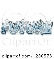 Clipart Of Robot Letters Forming The Word FUTURE Royalty Free Vector Illustration