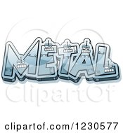 Clipart Of Robot Letters Forming The Word METAL Royalty Free Vector Illustration