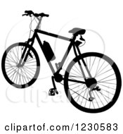 Black Silhouetted Bicycle With A Water Bottle