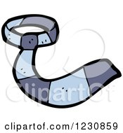 Clipart Of A Blue Business Tie Royalty Free Vector Illustration by lineartestpilot