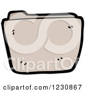 Clipart Of A Brown File Royalty Free Vector Illustration by lineartestpilot