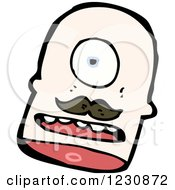Clipart Of A Decapitated Head Royalty Free Vector Illustration