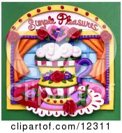 Clay Sculpture Clipart Simple Pleasures Cup Window Scene Royalty Free 3d Illustration