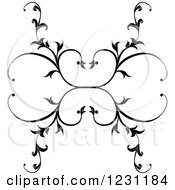 Clipart Of Floral Vines Forming Hearts Royalty Free Vector Illustration
