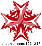 Clipart Of A Red Cross Royalty Free Vector Illustration