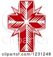 Clipart Of A Red Cross 2 Royalty Free Vector Illustration