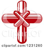 Clipart Of A Red Cross 7 Royalty Free Vector Illustration