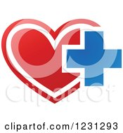 Red Heart And Medical Cross
