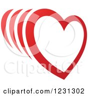 Clipart Of A Red Heart With Trails Royalty Free Vector Illustration