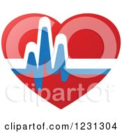 Clipart Of A Medical Cardiogram Heart 3 Royalty Free Vector Illustration by Vector Tradition SM