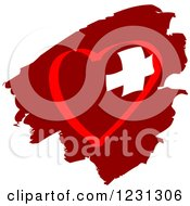 Clipart Of A Red Heart And Medical Cross 3 Royalty Free Vector Illustration