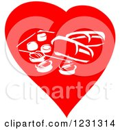 Clipart Of A Red Heart And Pharmaceutical Pills Royalty Free Vector Illustration