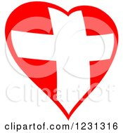 Clipart Of A Red Heart And Medical Cross 2 Royalty Free Vector Illustration