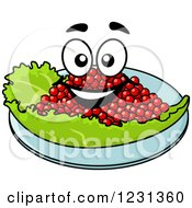 Clipart Of A Happy Caviar Character Royalty Free Vector Illustration by Vector Tradition SM