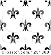 Seamless Black And White Fleur De Lis Background Pattern 3