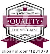 Clipart Of A Premium Quality The Very Best Shield Royalty Free Vector Illustration
