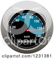 Clipart Of A Speedometer Royalty Free Vector Illustration by Vector Tradition SM