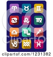 Clipart Of Astrology Icons Royalty Free Vector Illustration by Vector Tradition SM