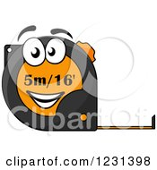 Clipart Of A Happy Tape Measure Character Royalty Free Vector Illustration