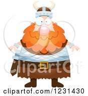 Clipart Of A Happy Red Haired Viking Man Royalty Free Vector Illustration by Cory Thoman