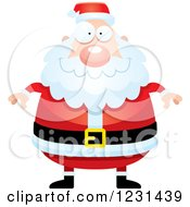 Clipart Of A Happy Santa Claus Royalty Free Vector Illustration