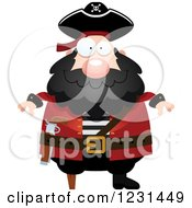 Clipart Of A Happy Pirate Captain Royalty Free Vector Illustration by Cory Thoman