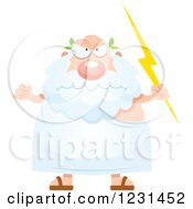 Clipart Of A Mad Greek Man Holding A Lightning Bolt Royalty Free Vector Illustration by Cory Thoman