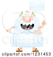 Clipart Of A Happy Talking Greek Man Royalty Free Vector Illustration by Cory Thoman