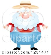 Clipart Of A Happy Senior Male Farmer Royalty Free Vector Illustration