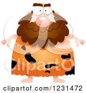 Clipart Of A Happy Caveman Royalty Free Vector Illustration by Cory Thoman
