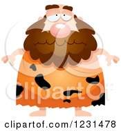 Clipart Of A Depressed Caveman Royalty Free Vector Illustration by Cory Thoman