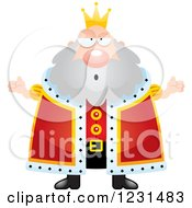 Clipart Of A Careless Shrugging King Royalty Free Vector Illustration
