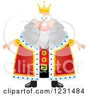 Clipart Of A Happy King Royalty Free Vector Illustration