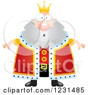 Clipart Of A Surprised Gasping King Royalty Free Vector Illustration