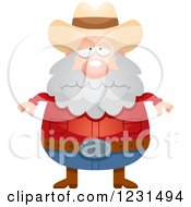 Clipart Of A Depressed Mining Prospector Man Royalty Free Vector Illustration by Cory Thoman