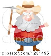 Clipart Of A Mad Mining Prospector Man Royalty Free Vector Illustration