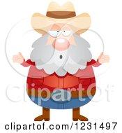 Careless Shrugging Mining Prospector Man