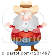 Clipart Of A Careless Shrugging Mining Prospector Man Royalty Free Vector Illustration by Cory Thoman