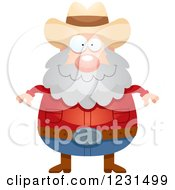 Clipart Of A Happy Mining Prospector Man Royalty Free Vector Illustration by Cory Thoman