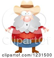 Clipart Of A Surprised Gasping Mining Prospector Man Royalty Free Vector Illustration by Cory Thoman