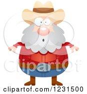 Surprised Gasping Mining Prospector Man
