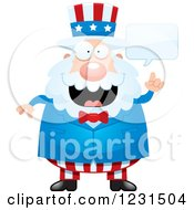 Clipart Of A Smart Talking Uncle Sam Royalty Free Vector Illustration