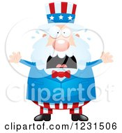 Clipart Of A Screaming Uncle Sam Royalty Free Vector Illustration