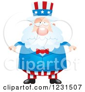 Clipart Of A Depressed Uncle Sam Royalty Free Vector Illustration