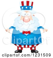 Clipart Of A Happy Uncle Sam Royalty Free Vector Illustration