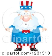 Clipart Of A Surprised Gasping Uncle Sam Royalty Free Vector Illustration