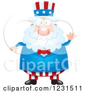 Clipart Of A Friendly Waving Uncle Sam Royalty Free Vector Illustration