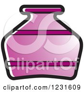 Clipart Of A Purple Pottery Jug Icon Royalty Free Vector Illustration