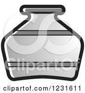 Clipart Of A Gray Pottery Jug Icon Royalty Free Vector Illustration